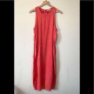 Calvin Klein Jeans Dusty Pink Midi Linen Dress